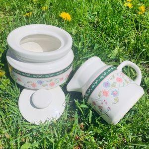 Vintage Cream & Sugar Set Kitchenware